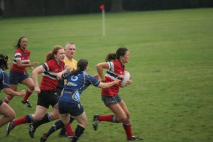 Sandy playing rugby for Hammersmith & Fulham