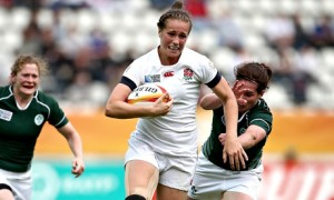 England's Emily Scarratt in action