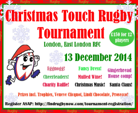 Christmas Touch Rugby Tournament-13 December 2014