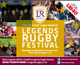 Legends Rugby Festival: 13 July