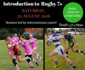 FRN hosting FREE Introduction to Rugby 7s Session on 20 August-Open to All!